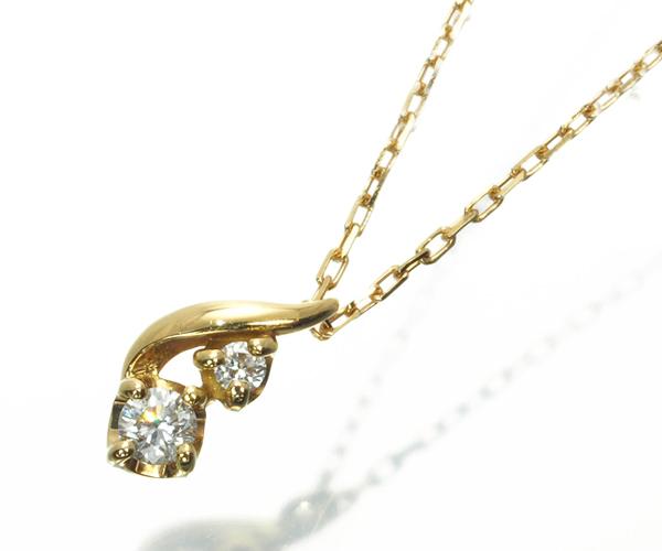 ヴァンドーム ネックレス ダイヤモンド K18YG