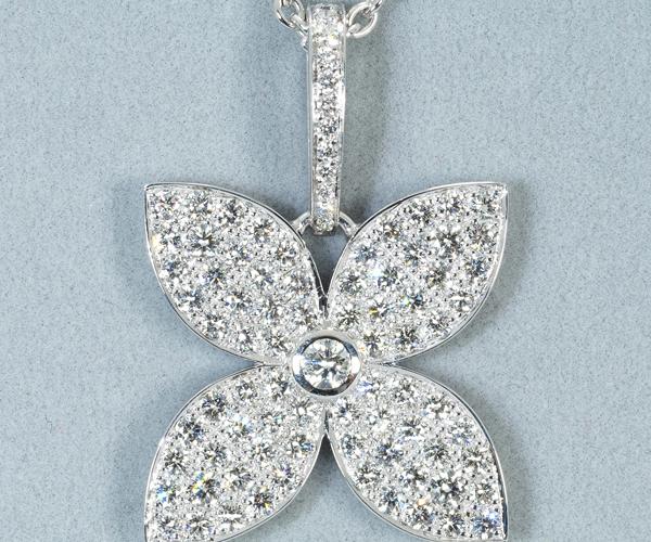 ルイヴィトン ネックレス ダイヤモンド クラッカント K18WG
