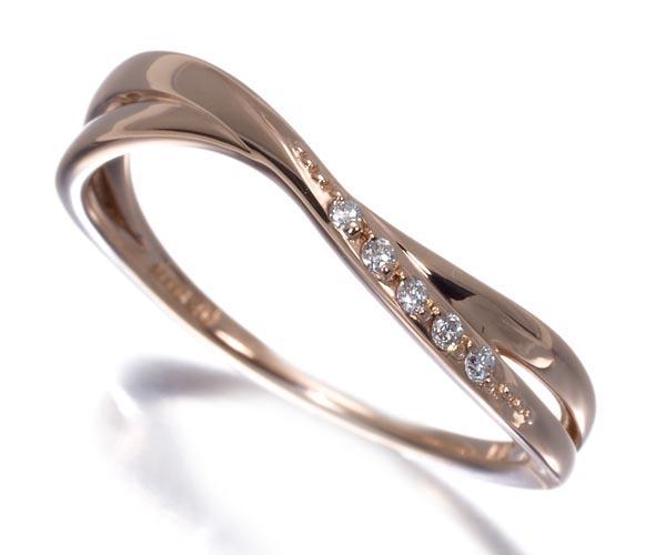 カナル4℃ リング ダイヤモンド 11号 K10PG