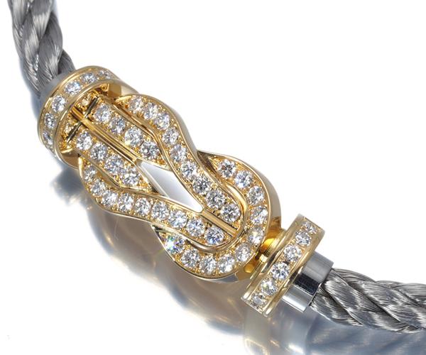 フレッド ブレスレット用バックル ダイヤモンド フォース10 エイトデグリーゼロ K18YG