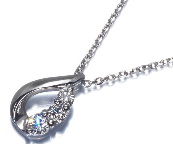 4℃ ヨンドシー ネックレス ダイヤモンド Pt850