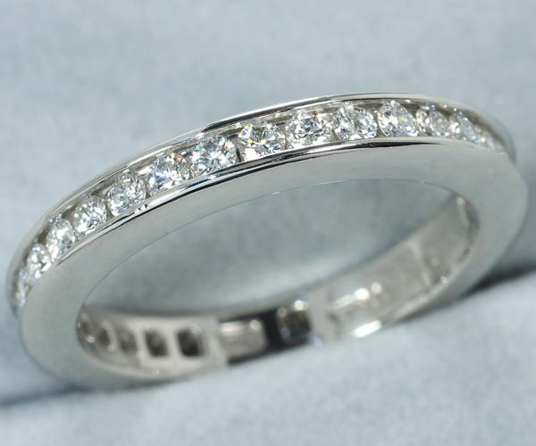 ハリーウィンストン リング ダイヤモンド フルサークル チャネルセッティング 3.0mm 9号 Pt950