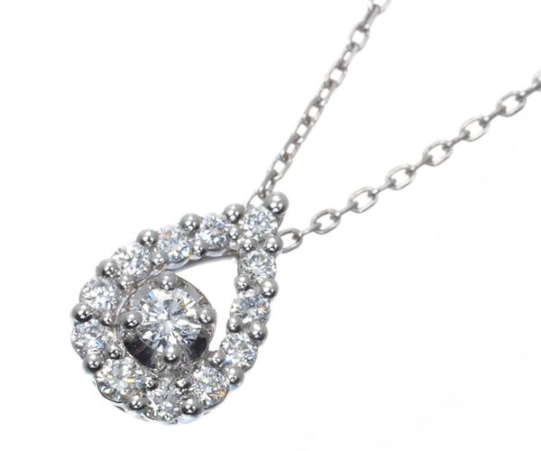 ヴァンドーム ネックレス ダイヤモンド 0.12ct Pt950/Pt850