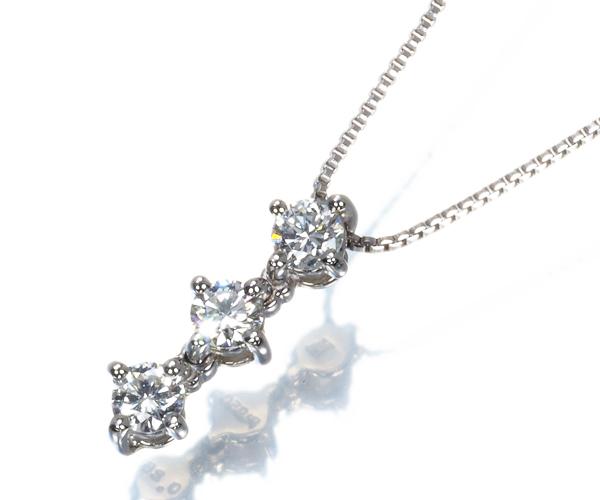 ヴァンドーム ネックレス ダイヤモンド 0.25ct  Pt950/Pt850