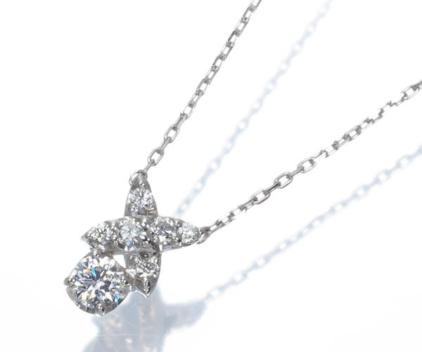ポンテヴェキオ ネックレス ダイヤモンド 0.10ct Pt999/Pt850