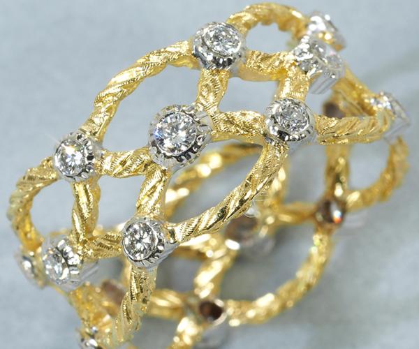 ジャンマリアブチェラッティ リング ダイヤモンド 16号 K18YG/WG