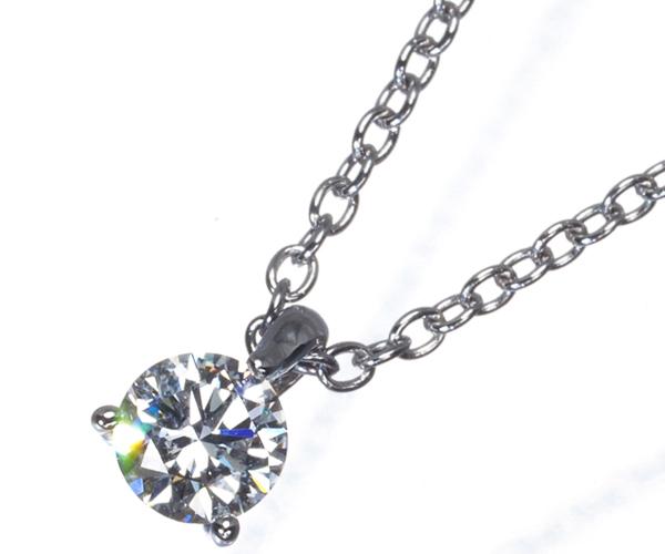 ポンテヴェキオ ネックレス 一粒 ダイヤモンド 0.207ct K18WG