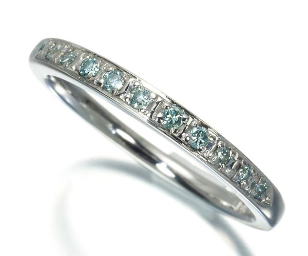 4℃ ヨンドシー リング ブルーダイヤモンド 7.5号 K18WG