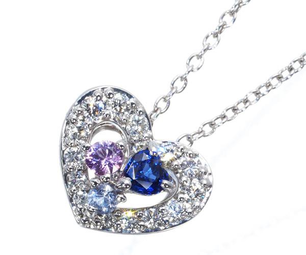 ポンテヴェキオ ネックレス ダイヤモンド サファイア K18WG