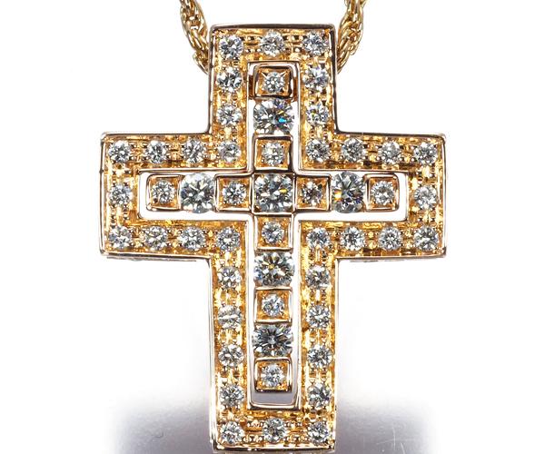 ダミアーニ ネックレス フルセッティング ダイヤモンド ベルエポック クロス K18PG