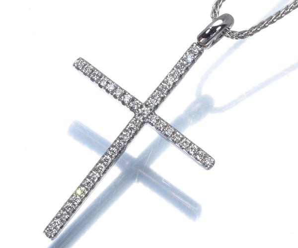 ダミアーニ ネックレス ダイヤモンド ミステリー クロス K18WG