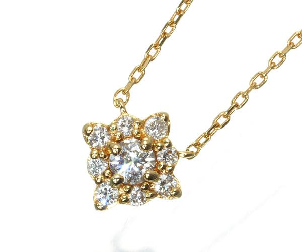 4℃ ヨンドシー ネックレス ダイヤモンド K18YG
