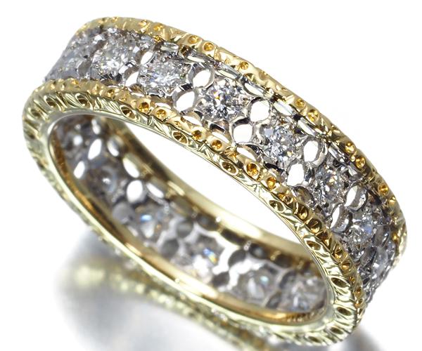 フェデリコブチェラッティ リング ダイヤモンド フルエタニティ 10号 K18YG/WG