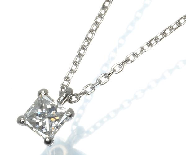 ヴァンドーム ネックレス ダイヤモンド 0.23ct プリンセスカット Pt900/Pt850