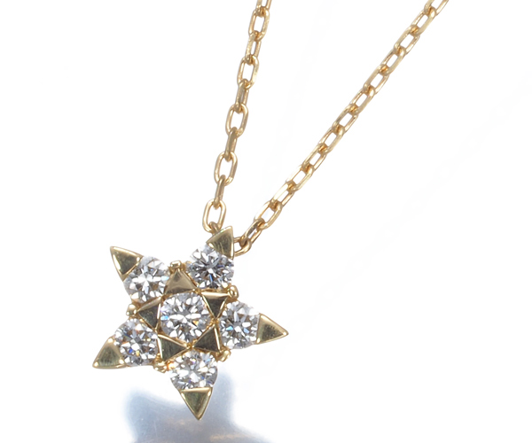 スタージュエリー ネックレス ダイヤモンド スター K18YG