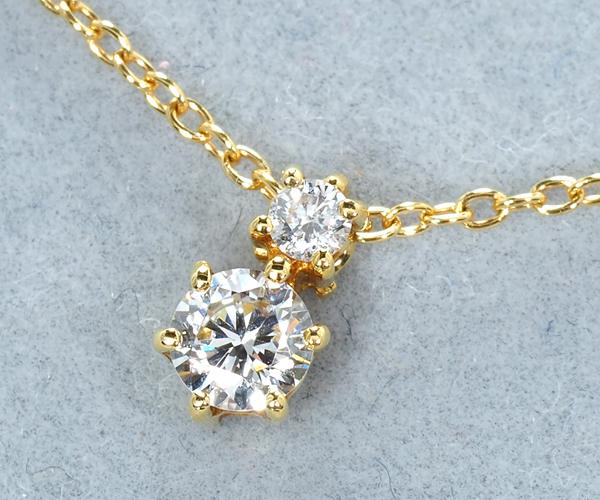 アーカー ネックレス ダイヤモンド 0.14ct サイレントナイト K18YG