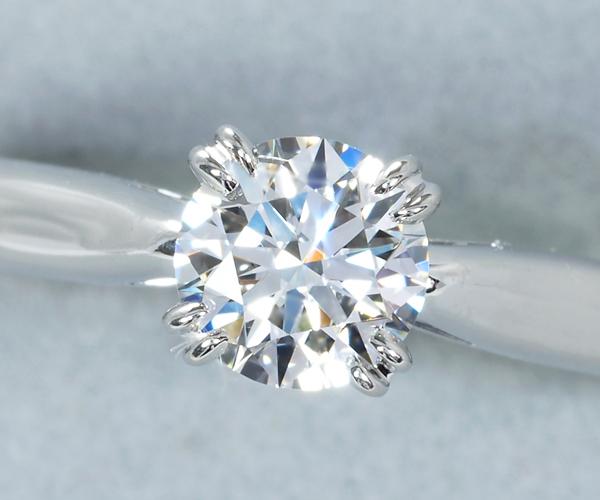 ハリーウィンストン リング ダイヤモンド 0.51ct F VVS2 EX ラウンド ソリティア 10号 Pt950
