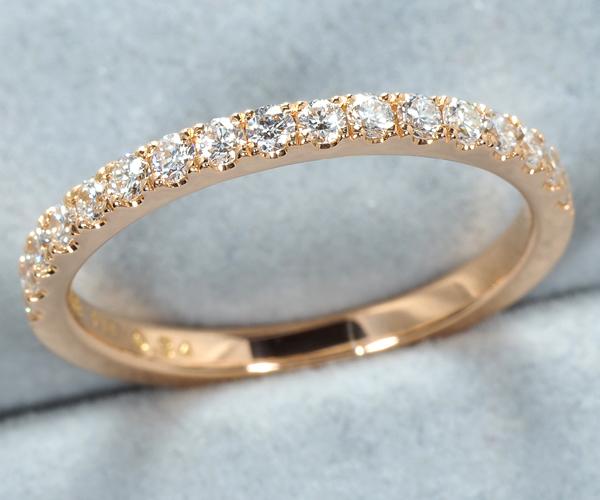 アーカー リング ダイヤモンド 0.34ct ハーフサークル ティナ 9号 K18PG