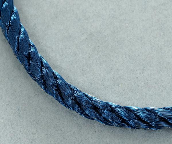 フレッド ブレスレット用コード フォース10 LM ネイビーブルー スティールケーブル 17刻印 SS