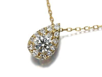 ヴァンドーム ネックレス ダイヤ 0.12ct K18YG