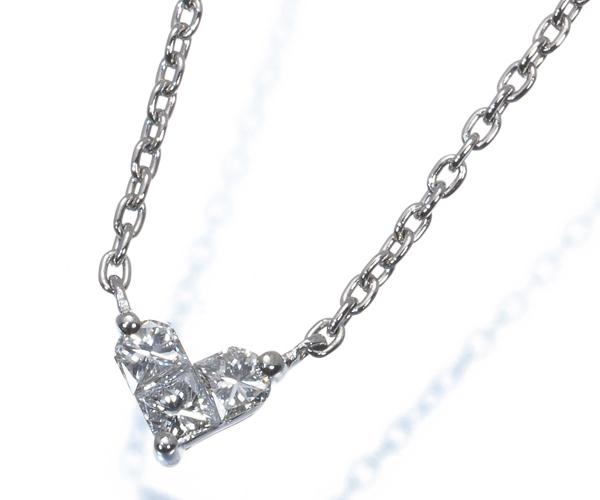 スタージュエリー ネックレス ダイヤモンド 0.10ct ミステリアス ハート Pt950