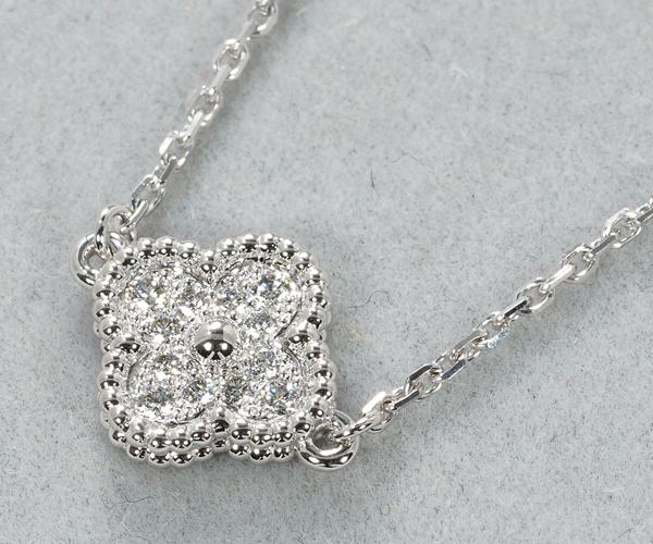 ヴァンクリーフ&アーペル ブレスレット ダイヤモンド スウィートアルハンブラ K18WG