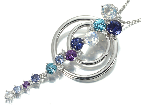 4℃ ヨンドシー ネックレス ダイヤ ダイヤモンド マルチストーン K18WG