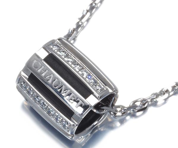 ショーメ ネックレス ダイヤモンド クラスワン K18WG/ラバー