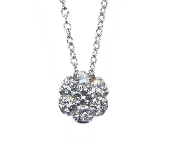 ポンテヴェキオ ネックレス ダイヤモンド 0.26ct K18WG