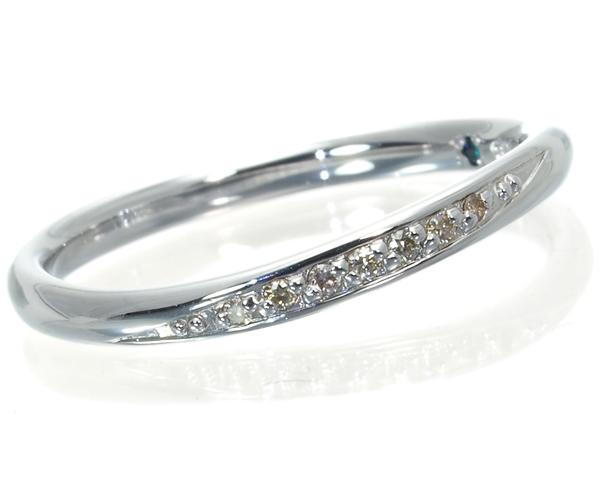 カナル4℃ リング ダイヤモンド 11号 K10WG