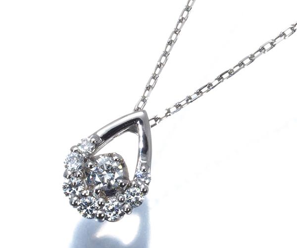 ヴァンドーム ネックレス ダイヤモンド ペアシェイプデザイン Pt950/Pt850