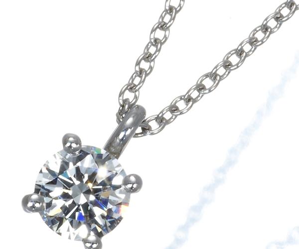 ティファニー ネックレス ダイヤモンド 0.35ct程 ソリティア Pt950