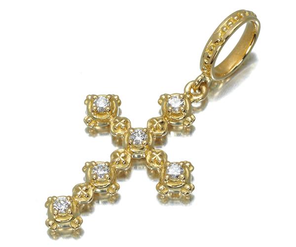 アーカー ペンダントトップ ダイヤモンド 0.22ct エリーゼ クロス K18YG