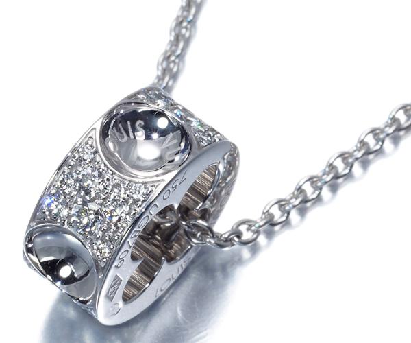 ルイヴィトン ネックレス ダイヤモンド パンダンティフ アンプラント パヴェ K18WG