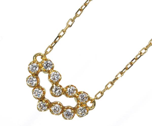 アーカー ネックレス ダイヤモンド ビリーブハート パヴェ K18YG