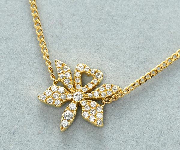アーカー ブレスレット ダイヤモンド 0.25ct オーキッドパヴェミディ K18YG