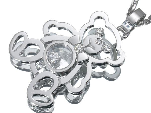 ショパール ハッピーダイヤ クマ ダイヤモンド K18 ネックレス