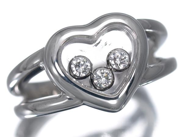 ショパール ハッピーダイヤ ハート ダイヤモンド3P K18 リング