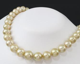 TASAKI タサキ真珠 ネックレス ゴールデンパール 10.0-14.3mm K18YG