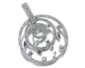 TASAKI タサキ真珠 ペンダントトップ ダイヤ ダイヤモンド 2.55ct K18WG