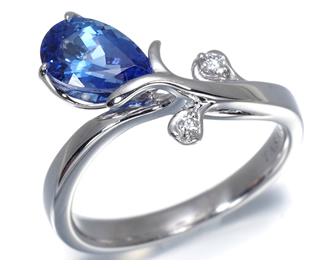 TASAKI タサキ真珠 リング タンザナイト 1.17ct ダイヤ ダイヤモンド K18WG