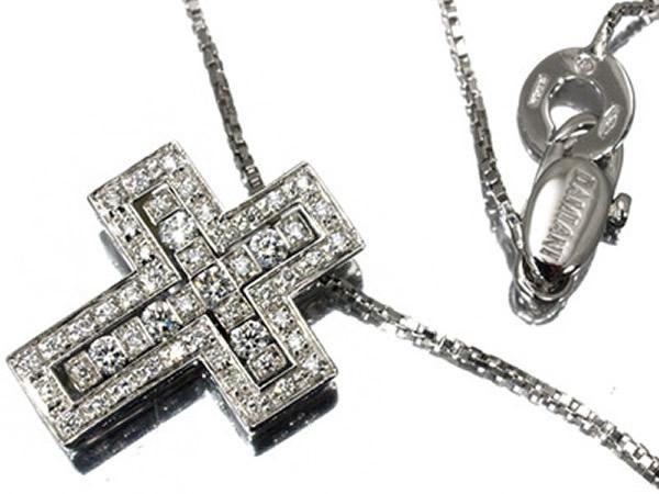 ダミアーニ ベルエポック ダイヤモンド クロス XS ネックレス K18WG  19.5×15.5mm