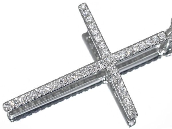 ダミアーニ ダイヤモンド ミステリークロス K18WG ネックレス 35.5×25.5mm