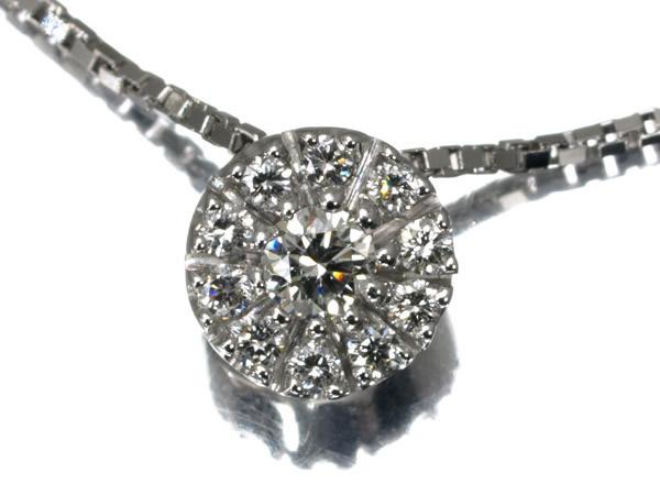 ダミアーニ ダイヤモンド フラワー ネックレス K18WG