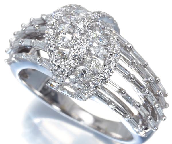 QVC リング ダイヤモンド 1.00ct 11号 K18WG