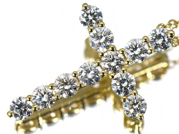 ティファニー スモールクロス ダイヤモンド K18 ネックレス