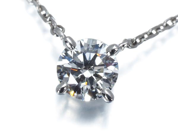 4℃ ヨンドシー ネックレス ダイヤ ダイヤモンド 0.264ct 一粒 Pt850/プラチナ