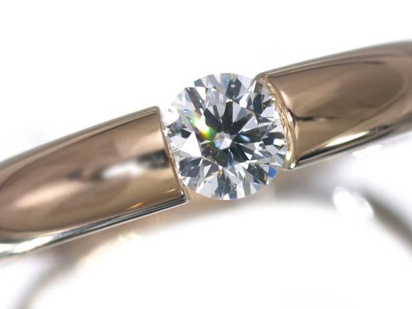ニーシング ダイヤモンド 0.309ct K18PG リング