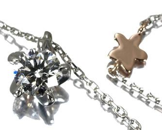 NIWAKA 俄(ニワカ) ダイヤモンド 0.30ct ネックレス Pt950/K18PG