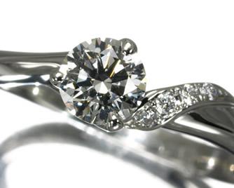 NIWAKA 俄(ニワカ) 『かきつばた』 ダイヤモンド 0.33ct G VS2 3EX 0.02ct リング Pt950